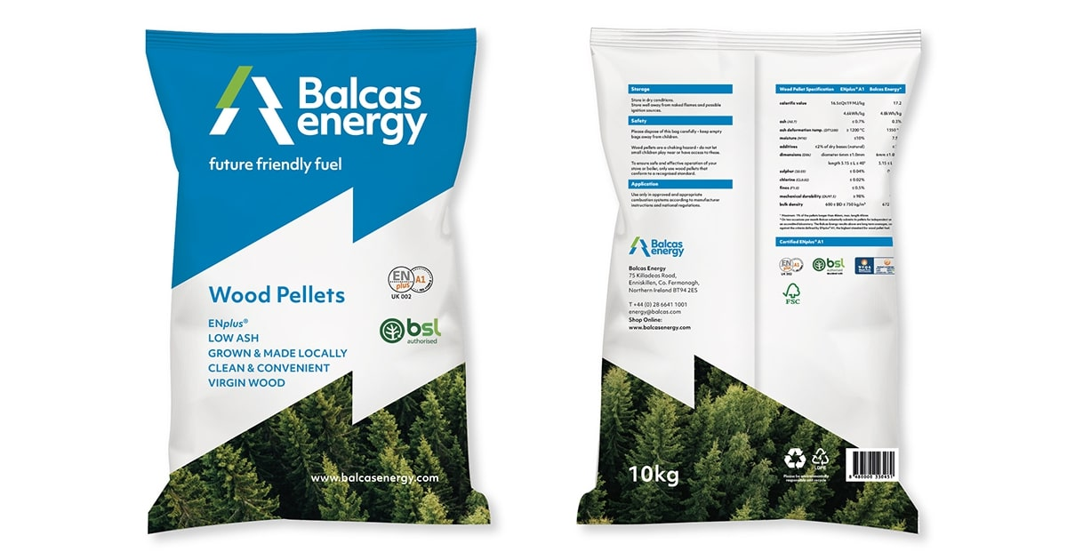 bagged wood pellets balcas energy