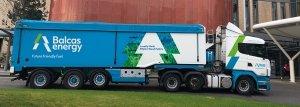 wood pellets truck lorry